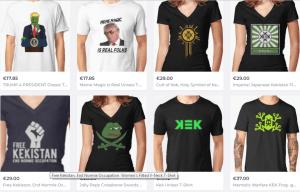 Enige T-shirts uit de Kek-selectie (RedBubble)