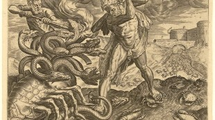 Julius Goltzius - Hercules overcomes the Hydra of Lerna