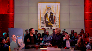 Koning Willem van Emo Verkerk door Hugo Borst bij DWDD (foto DWDD)