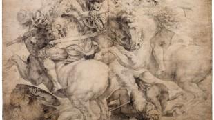 Kopie van een verloren gegaan werk van Leonardo da Vinci, door een anonieme Italiaanse kunstenaar, een van de werken, die prinses Christina veilt (foto NRC)