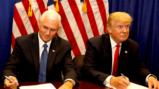 Mike Pence & Donald Trump (foto Before It's News)