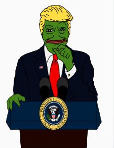 Trump als Pepe (RedBubble)