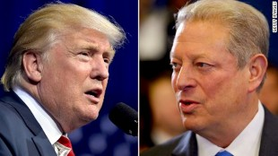 Donald Trump & Al Gore (foto Before It's News)