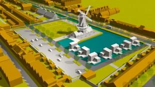Een molen op het voormalige Vinken terrein (foto DHA)