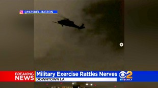 Military Exercise Causes A Scare (foto CBS)