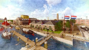 Stadhuis Den Helder op Willemsoord (foto VVD/Twitter)