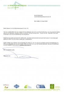 Kees Jan Tuin | A. Tuin Den Helder B.V. - Brief aan de bewoners van Boerhaavestraat 16 t/m 25