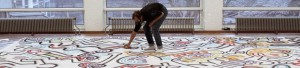 Keith Haring at work in the Stedelijk (foto Keith Haring Foundation)
