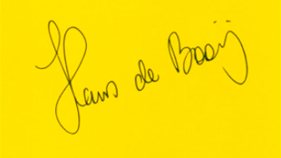 Signature Hans de Booij (foto YouTube)