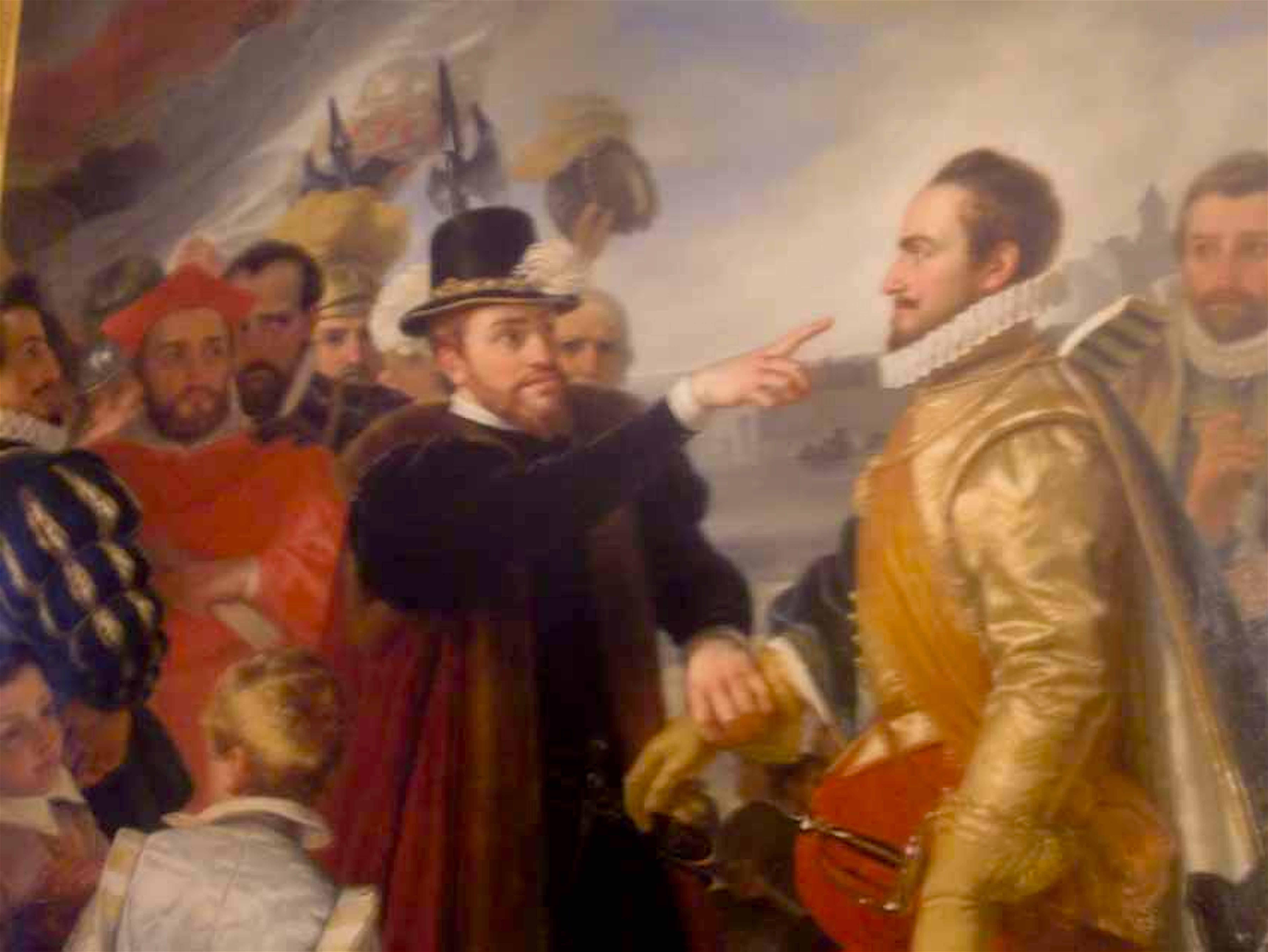Bijzonder schilderij met de beeltenissen van WILLEM VAN ORANJE en KONING FILIPS II van SPANJE vermoedelijk in SEGOVIA (foto Instituto Cervantes)
