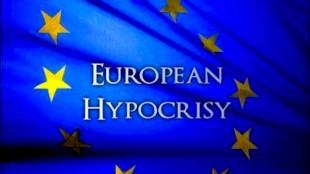 European hypocrisy (foto IsrealSeen)