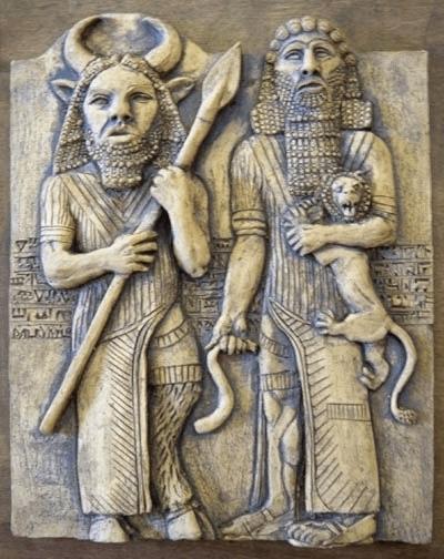 Gilgamesh and Enkidu (Foto earlyworldhistory)