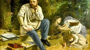 Gustave Courbet - Proudhon met zijn kinderen