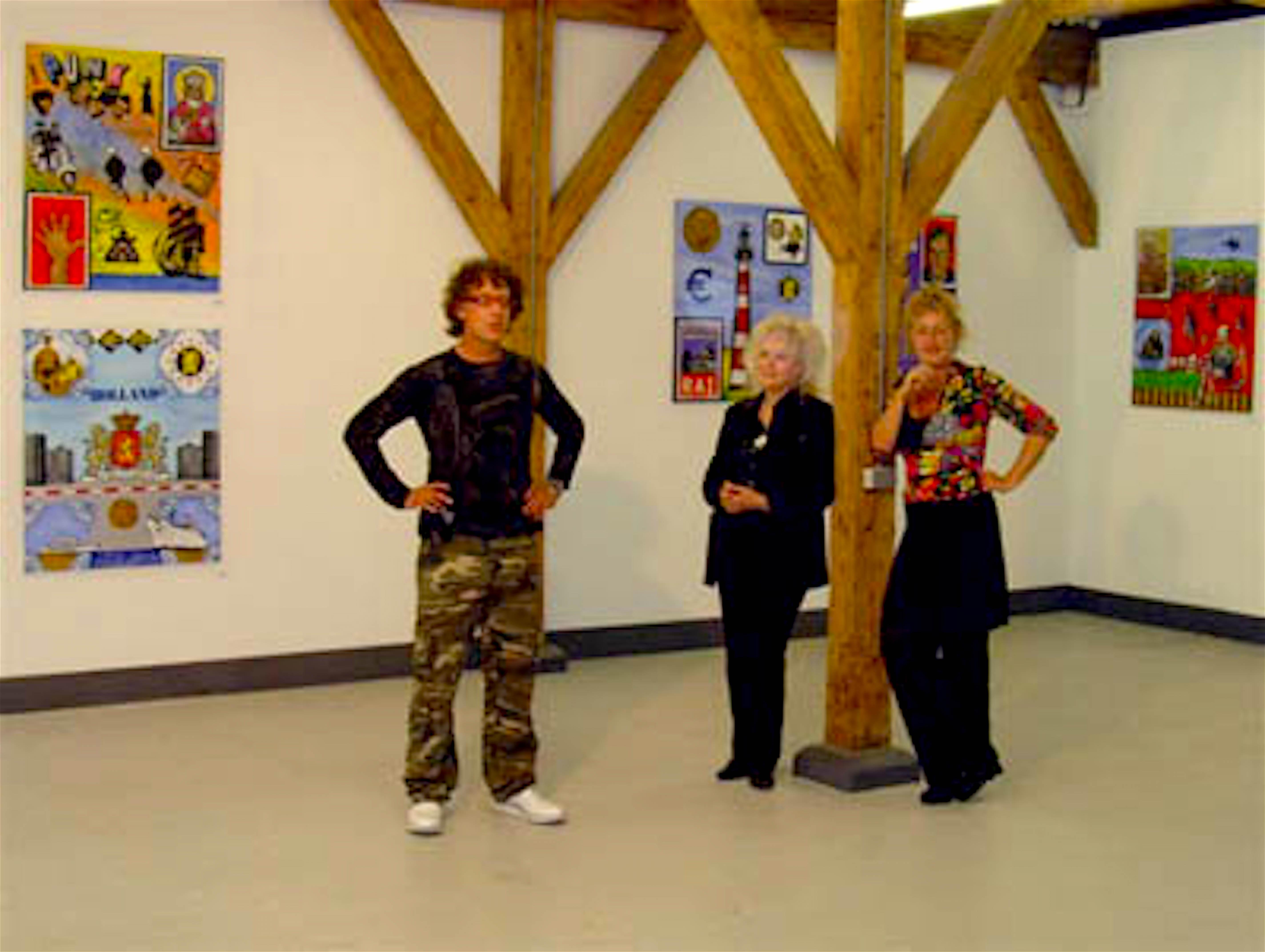 Hugo Kaagman met Diana Ozon en Jeanette Dekeukelaire in ArtKitchen (foto ArtKitchen)