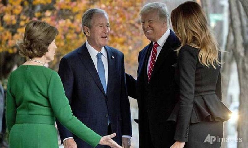 Trump & Bush family (foto Tom Heneghan Briefings)