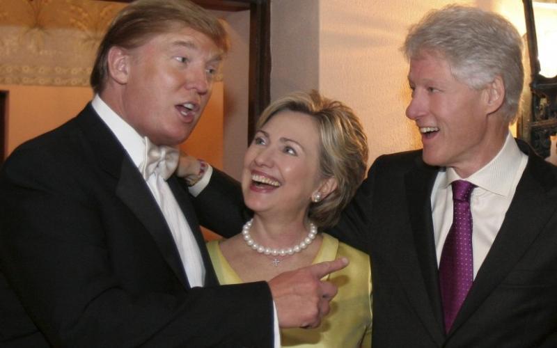Trump at Clinton wedding party (foto Tom Heneghan Briefings)