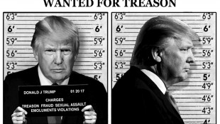WANTED FOR TREASON Donald J. Trump (foto Twitter)