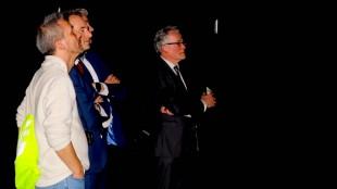 Burgemeester Schuiling met z'n gevolg (foto D66 Den Helder)