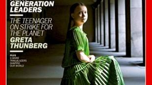 Greta Thunberg op de cover van Time (foto Hellen van Meene)