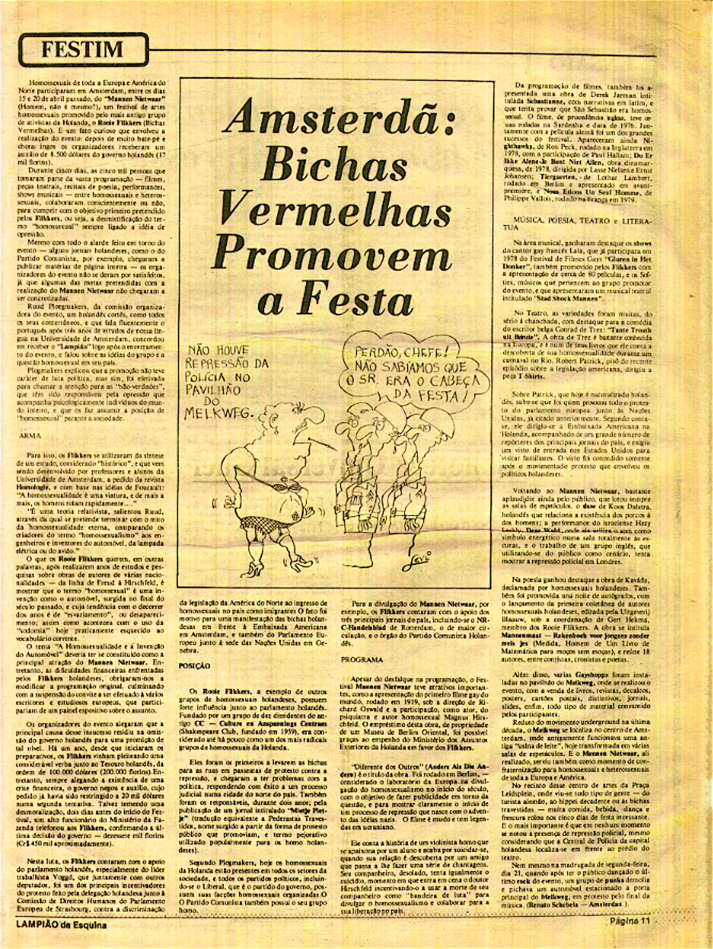 LAMPIÃO da Esquina, 1 december 1979, p. 11