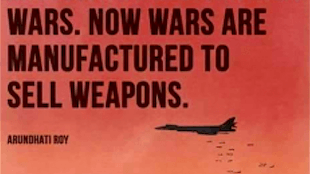 Manufacturing Wars to Sell Weapons (foto Malu' Aina, Center for non-violent education and action)