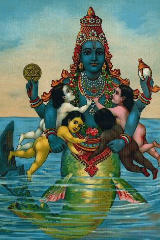 Matsya Avatar van Visjnoe (foto allposters)