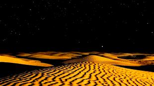 Sahara bij nacht (foto Scienze Fanpage)