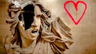 Sculpture Arc de Triomphe vandalisée (foto Twitter)