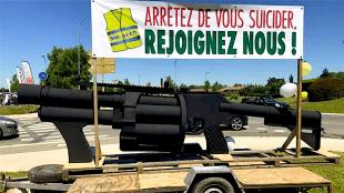 Arretez de vous suicider, rejoignez nous! (foto Police & Réalités)