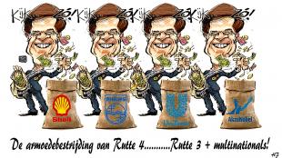 HJ - De armoedebestrijding van Rutte (foto Stop de Bankiers)
