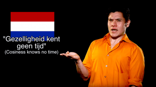 Gezelligheid kent geen tijd (cosiness knows no time, foto YouTube)