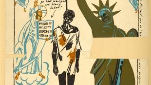 Soviet Union took advantage of racial tensions in the United States to create anti-American propaganda (1930 Soviet poster, foto Wikimedia)