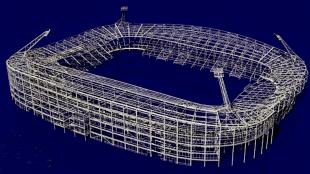 Constructief model van het AZ stadion (foto Cobouw)