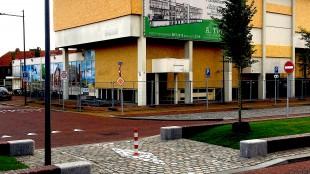 De ingang van het door Aannemingsbedrijf Tuin en Gemeente Den Helder vernielde Rob Scholte Museum (foto Staf RSMuseum)