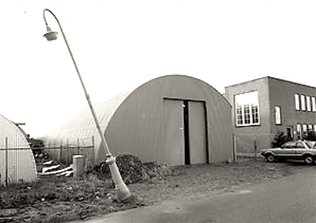 De loods, waarin Heineken & Dodere werden vastgehouden (foto De Bovenkamer)