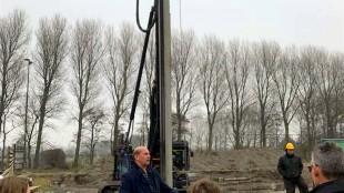 Directeur Kees Jan Tuin heet alle bezoekers van Den Helder namens Sloopbedrijf Tuin welkom (foto Van Lierop Adviesgroep/Facebook)