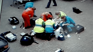 Fortuyn vermoord op het Mediapark te Hilversum (foto YouTube)