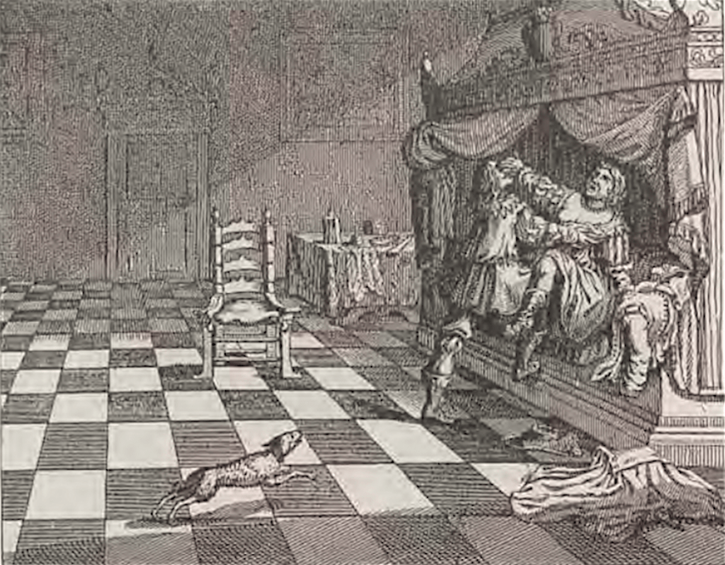 Graaf Floris V vergrijpt zich aan de vrouw van Gerard van Velsen