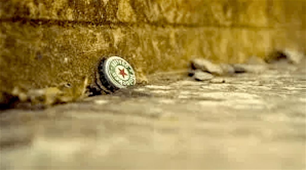 Heineken bierdop (foto De Bovenkamer)