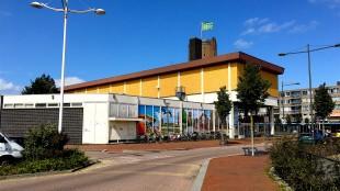 Het door aannemingsbedrijf Tuin en gemeente Den Helder verminkte Rob Scholte Museum (foto Staf RSMuseum)