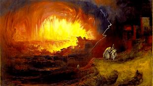 John Martin - Ondergang van Sodom en Gomorra (foto Wikimedia commons)