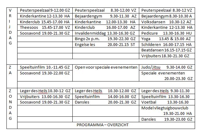 Programma 1976-77; 77-78; 78-79 (3)