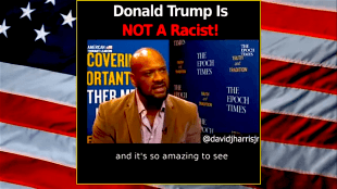 Trump is not a racist (screenshot Heydonmusicpage)