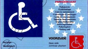 Gehandicapten Parkeerkaart (foto BN De Stem)