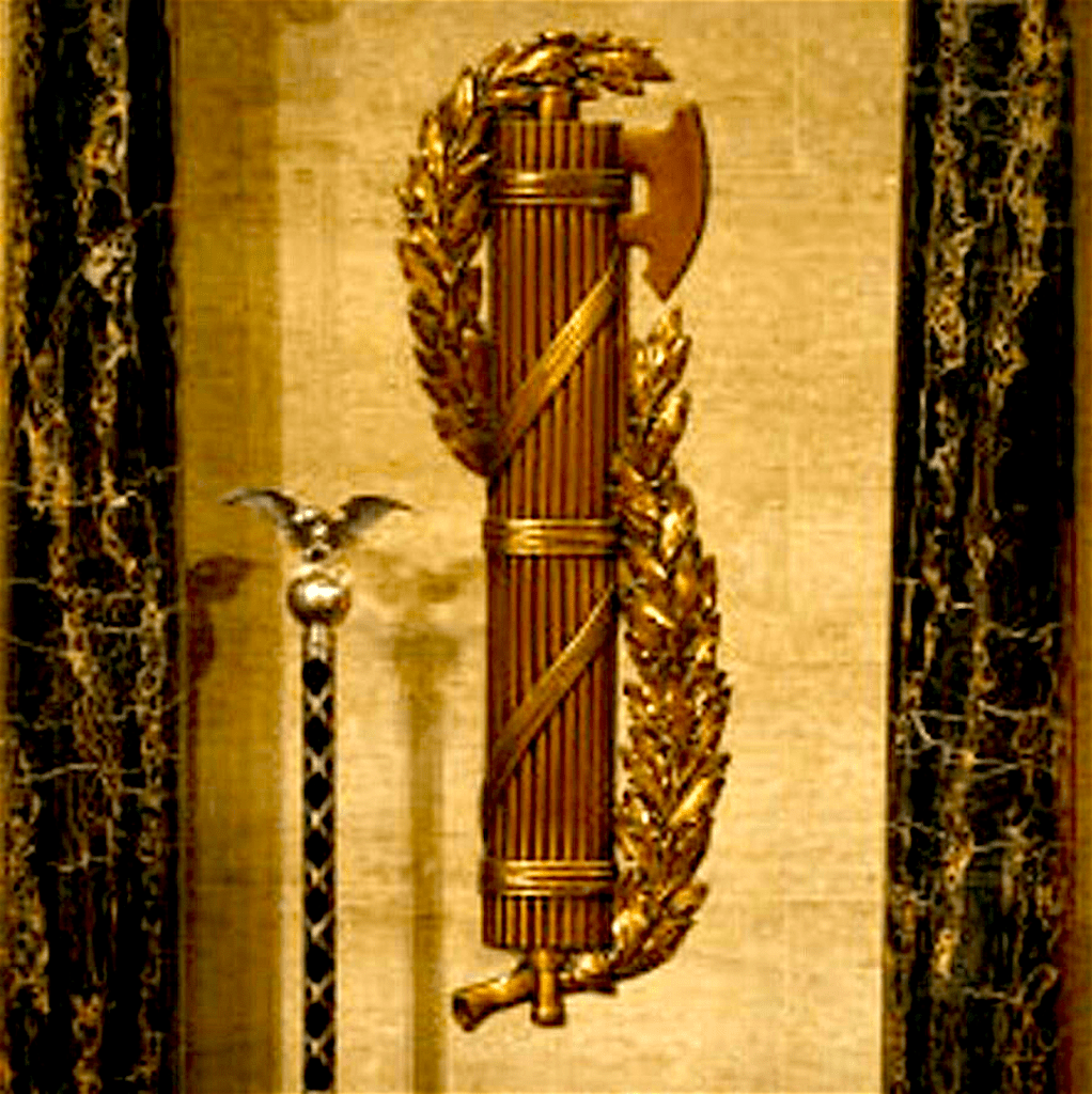 Roman Fasces symbol of strength in numbers with mace in U.S. Capitol (foto Joey W./Pinterest)