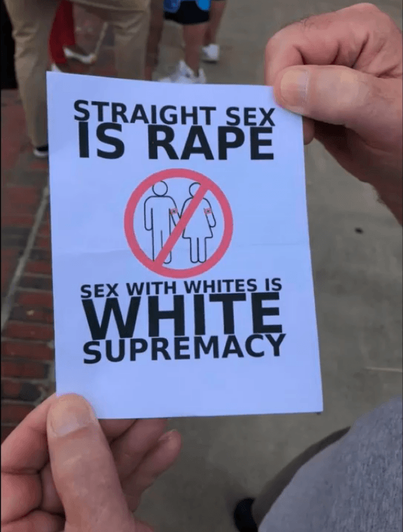 Straight Sex is rape (foto Camp Constitution)