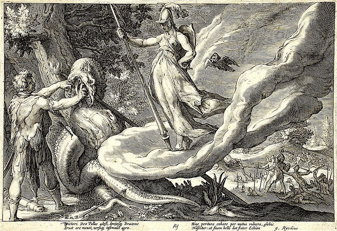 Hendrik Goltzius - Cadmus Sows the Dragon's Teeth Which Turn into Armed Men (foto Wikimedia)